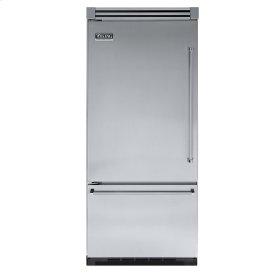 """Stainless Steel 36"""" Quiet Cool™ Bottom-Mount Refrigerator/Freezer - VIBB Tru-Flush™ (Left Hinge Door)"""