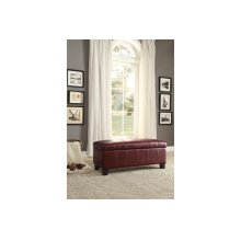 Lift-Top Storage Bench, Red