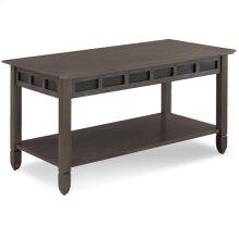 Smoke Grey Oak and Black Slate Coffee Table #10058-GR