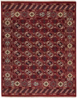 Estate-Treasure Dark Red Hand Knotted Rugs