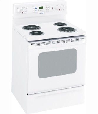 "MCB757DRWW - White on White Moffat 30"" Free Standing Electric Self Clean Range"