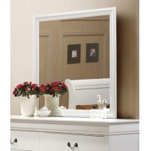 Louis Philippe White Dresser Mirror With Beveled Edge