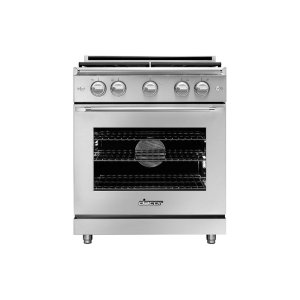 "Dacor30"" Heritage Gas Epicure Range, Silver Stainless Steel, Liquid Propane/High Altitude"