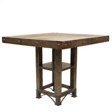 "Table : 42"" Square Top Urban Rustic Square Dining Table"
