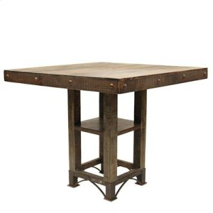 "30"" Base : 16.5"" x 16.5"" x 30"" Urban Rustic Square Dining Table"