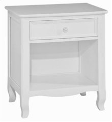 Emma 1 Drawer Nightstand White
