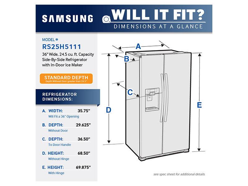 Buy Samsung Refrigeration In Boston Side X Side Rs25h5111sr