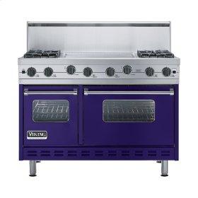 """Cobalt Blue 48"""" Sealed Burner Range - VGIC (48"""" wide, four burners 24"""" wide griddle/simmer plate)"""