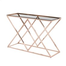 Gold/glass Diamond Console Table, Kd