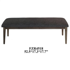 CRESTVIEW COLLECTIONSCorbin Distressed Wood and Pattern Upholstered Bench