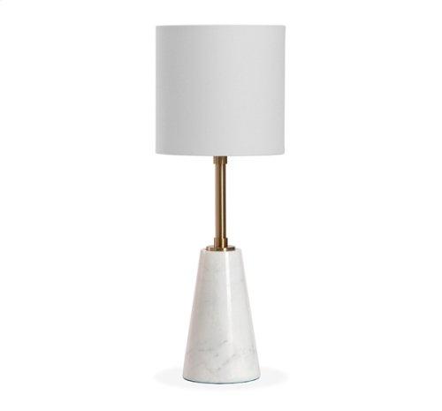 Beck Lamp - White/ Antique Brass