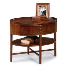 Regency Oval End Table