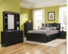 Bookcase w light 4-Drawer Captains Bed - Full Product Image