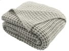 HAVEN KNIT THROW - Light Grey / Natural Product Image