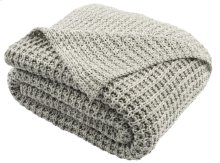 HAVEN KNIT THROW - Light Grey / Natural