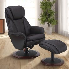 Norway Recliner and Ottoman in Java Leather