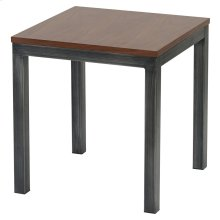 Octa KD End Table Brushed Gray Legs, Walnut