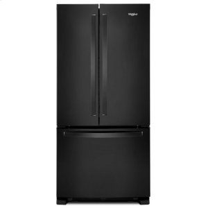 33-inch Wide French Door Refrigerator - 22 cu. ft. - BLACK