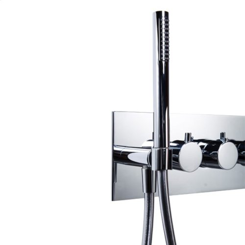 "pure2 in-wall thermostatic tubfiller with handshower & smooth 42"" Neoperl hose"