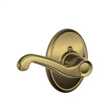 Flair Lever with Wakefield trim Non-turning Lock - Antique Brass