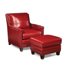 Prescott Ottoman - Supple Red
