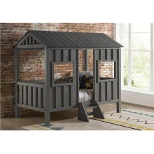 Gray House Bed with options: Grey, Twin