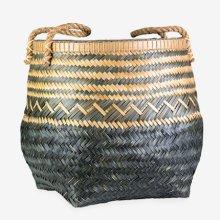 Patterned Bamboo Basket