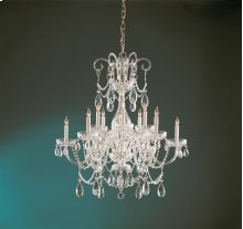 Traditional Crystal 12 Light Swarovski Strass Crystal Brass Chandelier