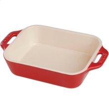"""Staub Ceramics 13x9"""" Rectangular Baking Dish, Cherry"""