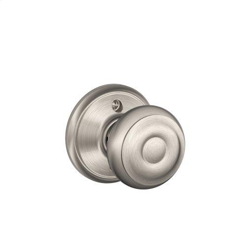 Georgian Knob Non-turning Lock - Satin Nickel