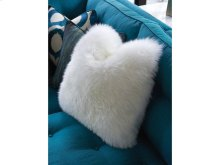 18 Inch Lux Down Leather Throw Pillow