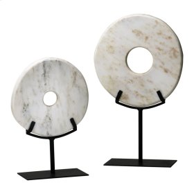 Lg. White Disk On Stand
