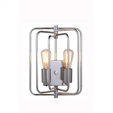 """1454 Lewis Collection Wall Lamp W:10"""" H:13"""" E:6"""" Lt:2 Polished Nickel Finish"""