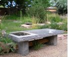 Slab Table/bench Outdoor / Blue Gray Granite Product Image