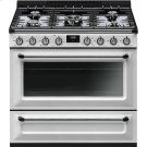 """Free-Standing All-Gas Cavity """"Victoria"""" Range, 36"""" X 25"""", White Product Image"""