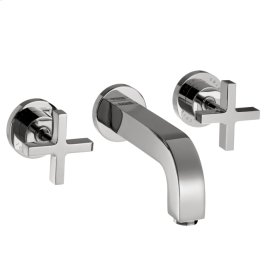 Chrome Citterio Wall-Mounted Widespread Faucet Trim with Cross Handles
