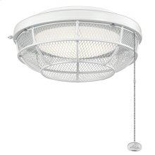 Industrial Mesh LED Outdoor Light Kit Matte White