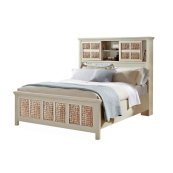 Pacifica Creme Storage Headboard Bed