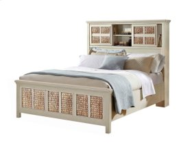 Pacifica Creme Storage Headboard Bed