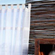 Sheer Teastain Tabtop 42x84 100% Cotton Curtains