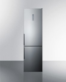 Counter Depth Energy Star Certified Bottom Freezer Refrigerator, With Frost-free Operation, Digital Controls, Platinum Cabinet, and Stainless Steel Look Doors; Replaces Ffbf191ss