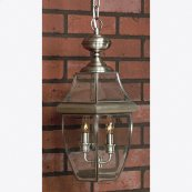 Newbury Outdoor Lantern in Pewter