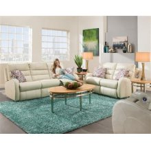 Double Reclining Rocking Loveseat with 2 pillows