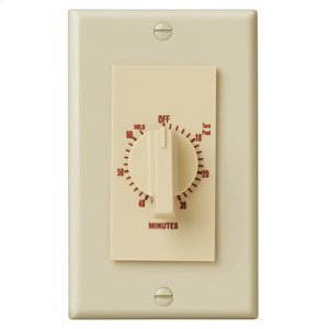 """60 Minute Time Control, with """"continuous on"""" feature. Ivory, 20 amps, 120V"""