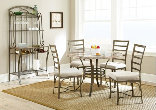 "Ellen Table Base (30""H)& 4 Side Chairs, 18"" x 23"" x 39"""