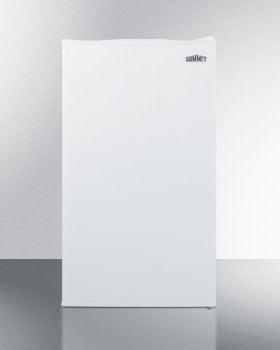 Counter Height Refrigerator-freezer In White for Residential Use, With Manual Defrost, Glass Shelves, and Door Storage