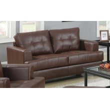 Samuel Transitional Dark Brown Loveseat