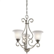 Camerena Collection Camerena 3 Light Chandelier in Brushed Nickel