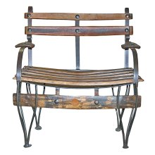 Tequilero Wood and Iron Bench