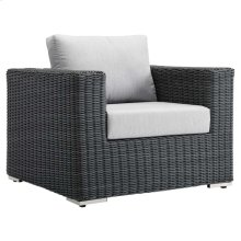 Summon Outdoor Patio Fabric Sunbrella® Armchair in Canvas Gray